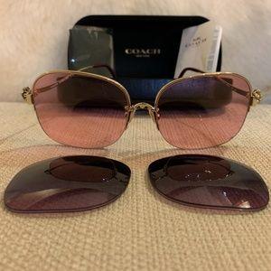 Coach HC 7088 Light Gold/violet Sunglasses
